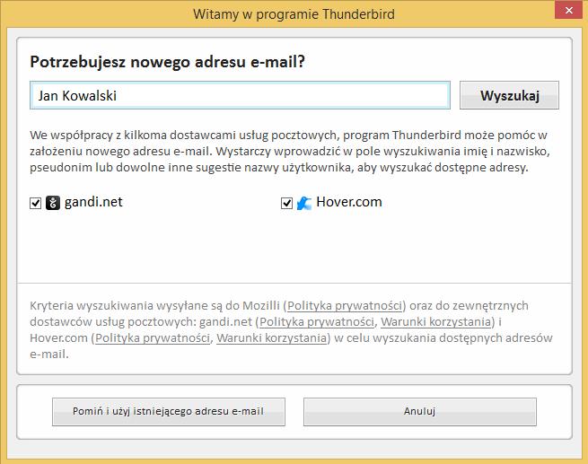 8b45adbfefdb44 Jak skonfigurować konto pocztowe w programie Thunderbird? - mPomoc ...